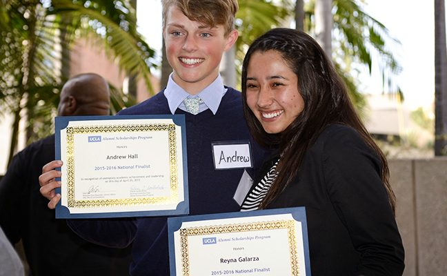 Andrew Hall and Reyna Galarza at the 2015 National Finals Competition.