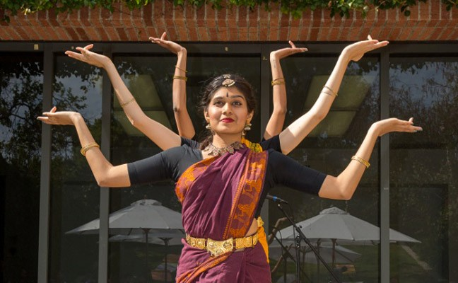 Arts of India Festival performance. Photo by Reed Hutchinson, 2015