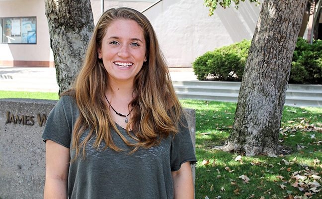Anna George '18, student in Environmental Science