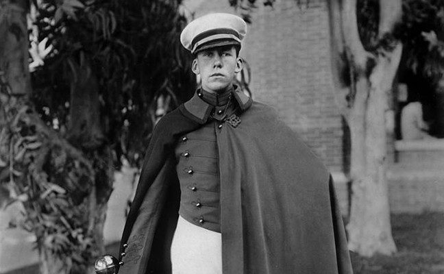 John V. Vaughn became the UCLA Bruin Marching Band's first-ever drum major, in 1928.