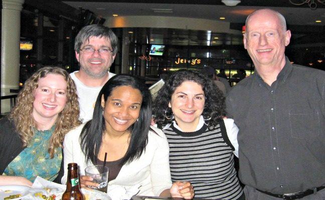 MPP '98 reunion (L-R): Marion Walsh, Dylan Presman, Emily Williams, Tenny Avanesian