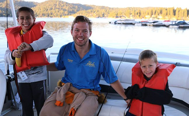Bruin Woods is on the north shore of Lake Arrowhead, the destination for water activities.
