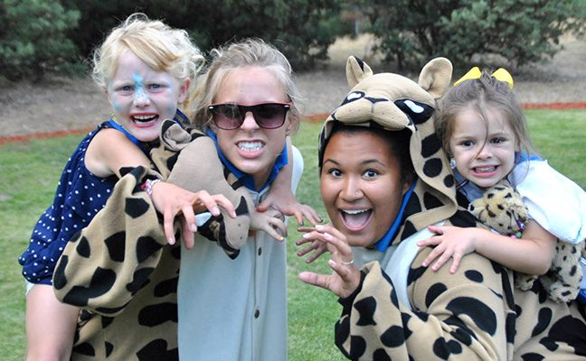 Hand-selected UCLA student staff serve as role models to kids attending Bruin Woods.