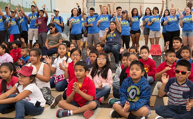 UCLA students support elementary schools throughout the Los Angeles region.