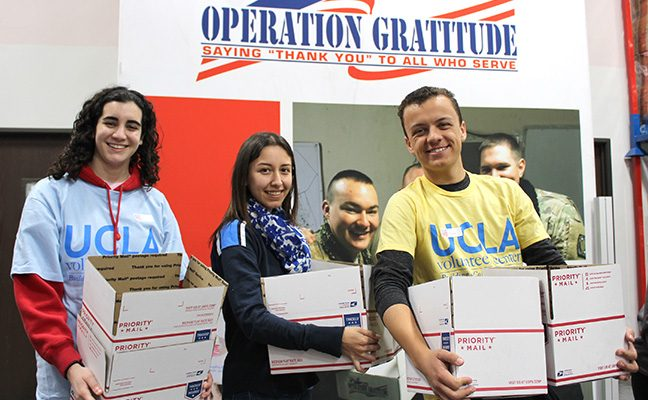 Operation Gratitude sends letters and care packages to service members.