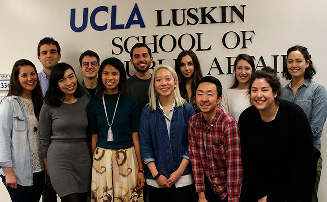 Group of students in Luskin School of Public Affairs