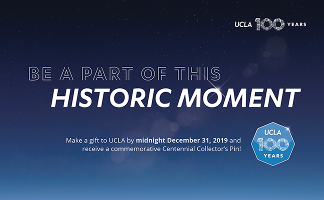 """""""Be part of this historic moment"""" text set against dark blue background."""